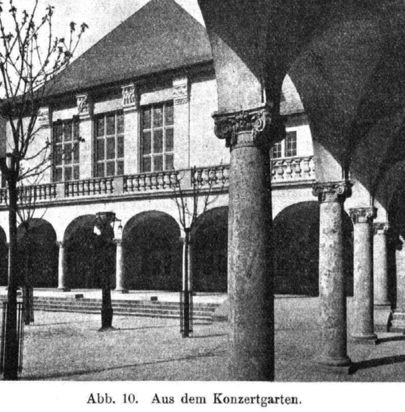 Konzertgarten am Kurhaus von Bad Nauheim