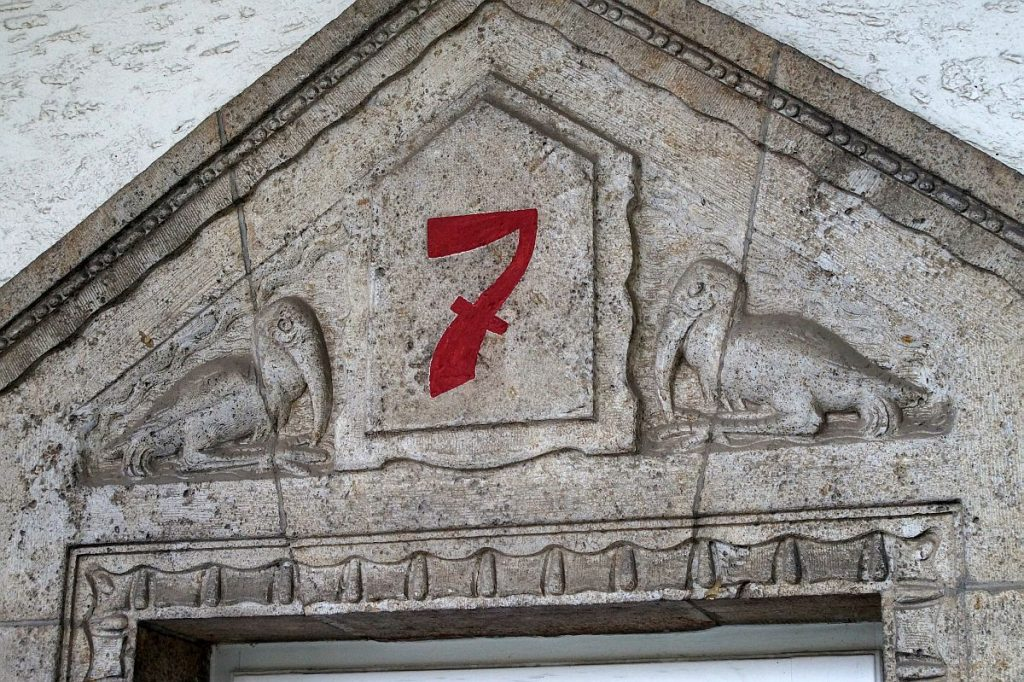Eingang Badehaus 7 Sprudelhof Bad Nauheim - Jugendstil