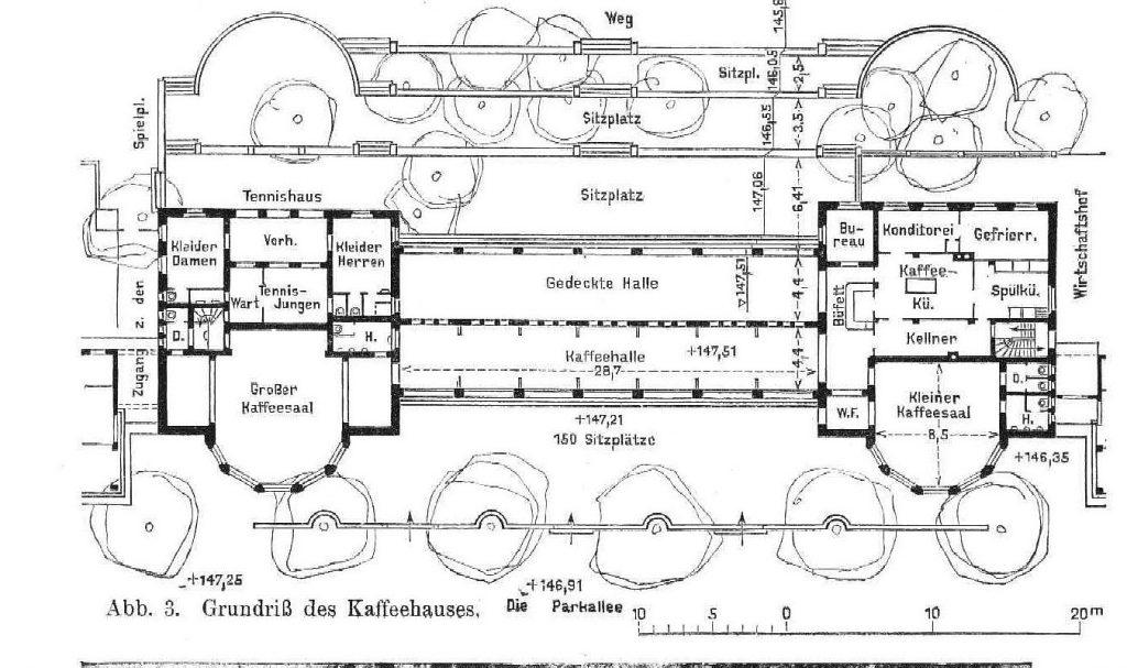 Grundriss Kaffeehaus Kolonnaden bad Nauheim