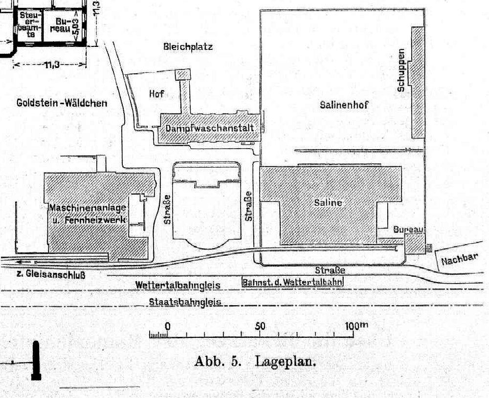 Lageplan neue Saline Bad Nauheim