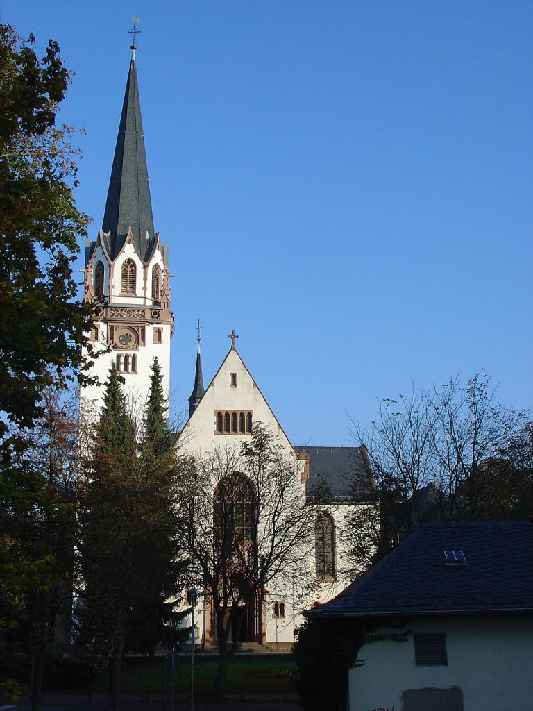 St. Bonifatius Kirche Bad Nauheim Altstadt und Innenstadt