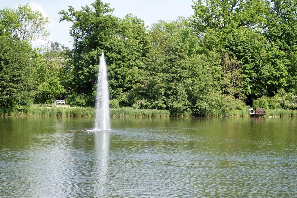 Fontäne Großer Teich Bad Nauheim